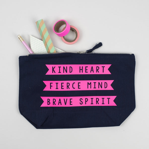kind heart make up pouch