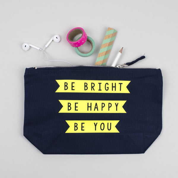 navy make up pouch