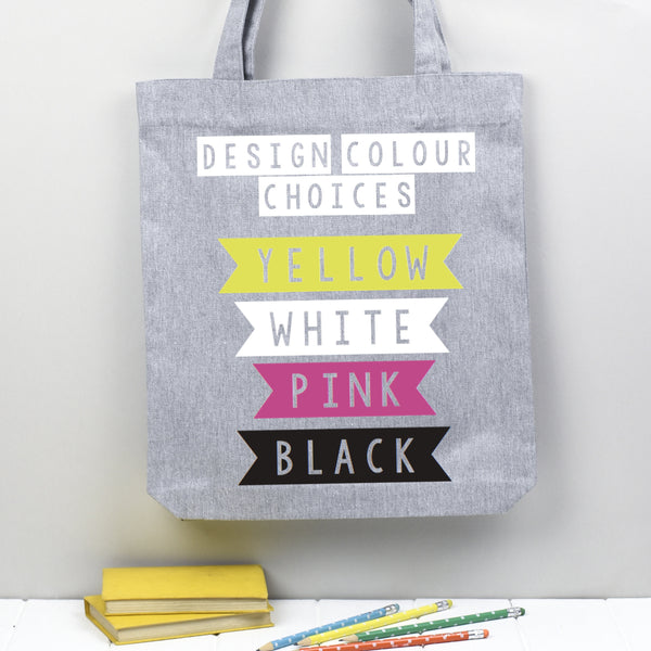 tote bag design colour options