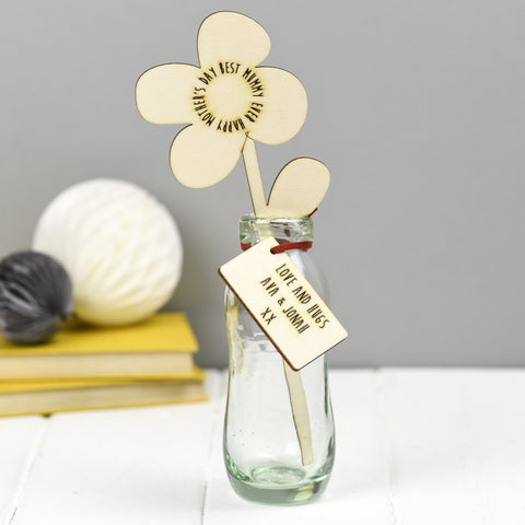 In Your Own Words Personalised Wooden Flower
