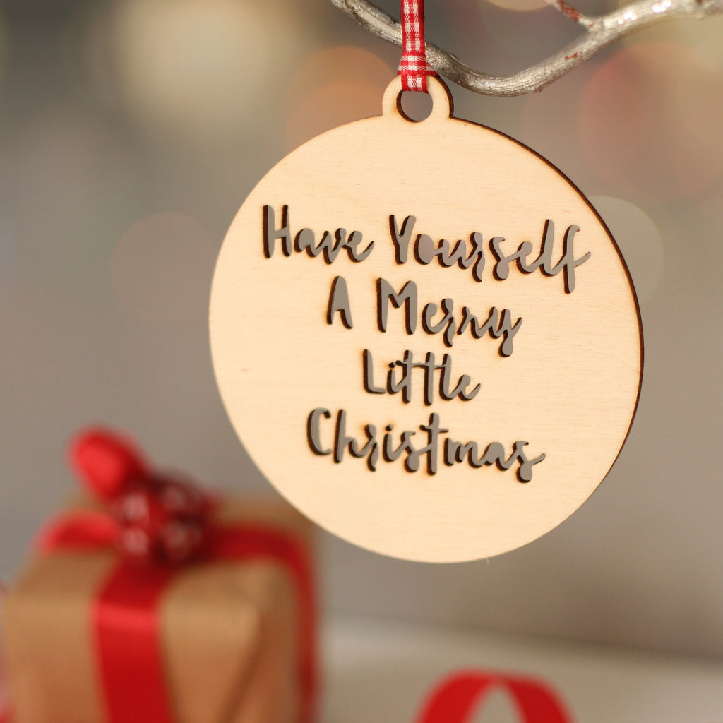 wooden personalised christmas decoration