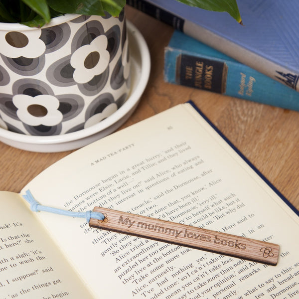 personalised wooden laser cut bookmarks