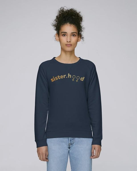 Sisterhood' navy sweatshirt for women