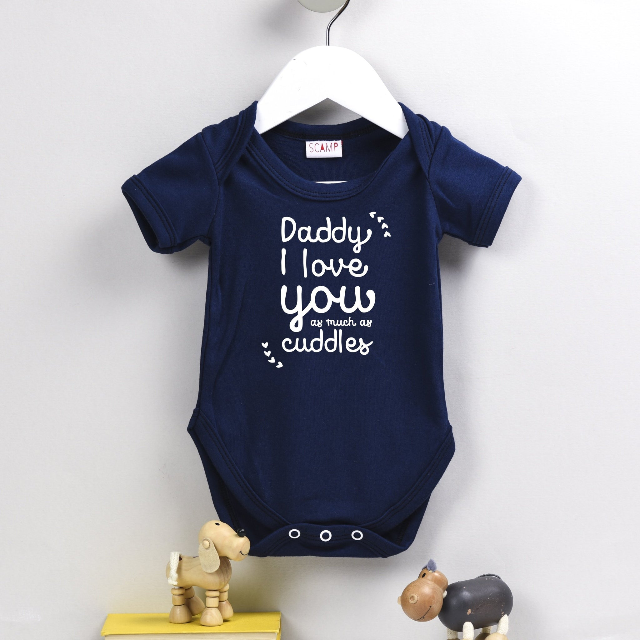 Father s Day Personalised Babygrow Daddy I Love You As Much As