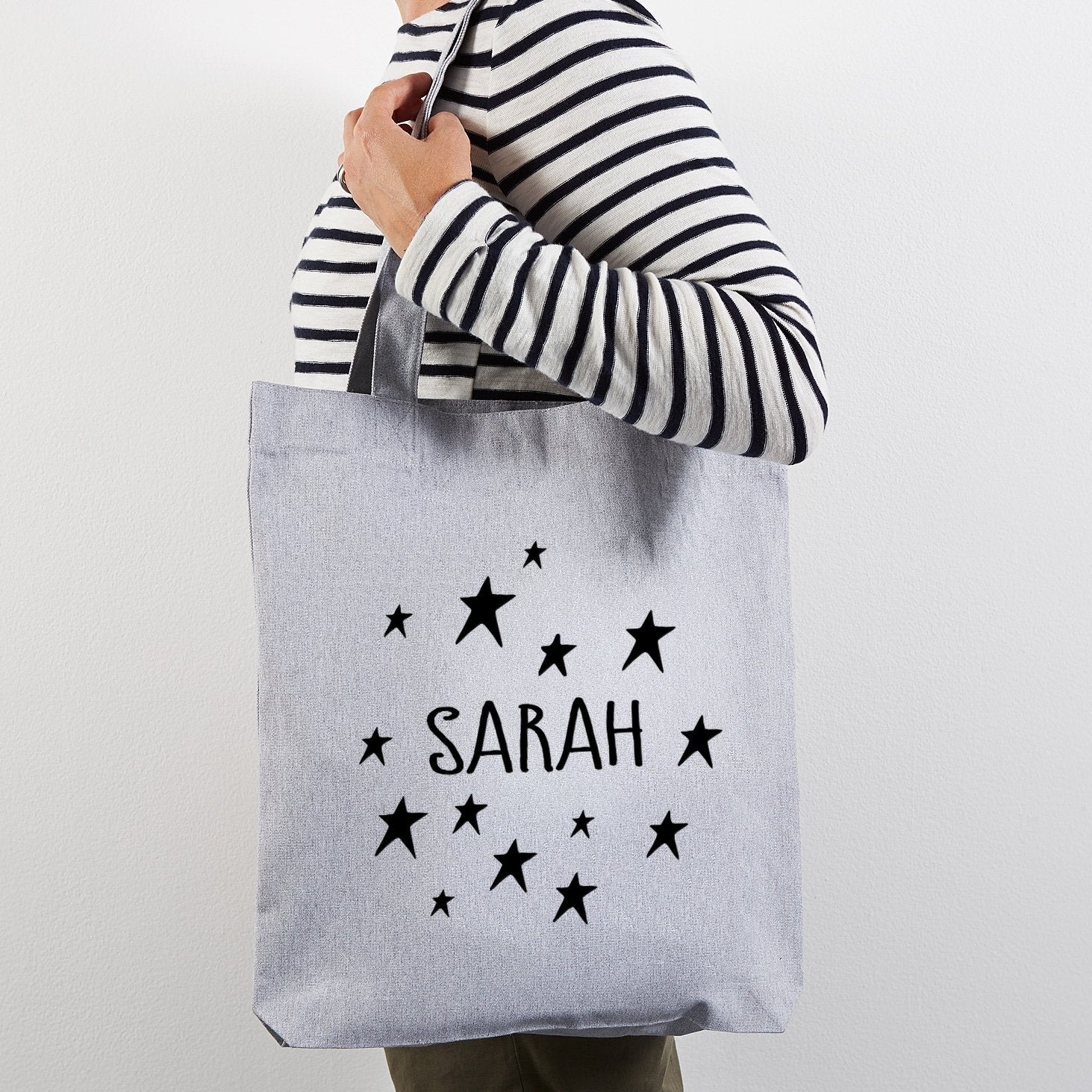 Personalised tote shopper bag