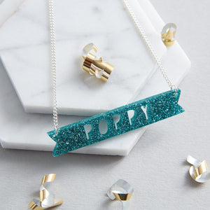 personalised acrylic name necklace