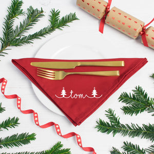 Personalised Christmas Tree Festive Napkins