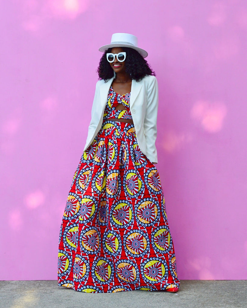 Ankara Maxi Skirt Set