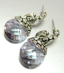 Lavender Crystal Earrings