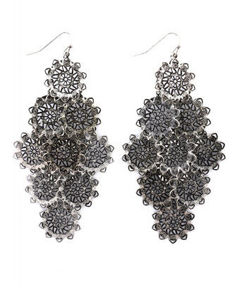 Doily Discs Hook Earrings