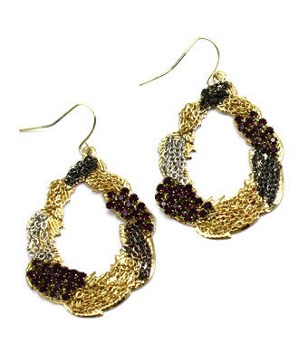 Oval Vintage Hook Earring