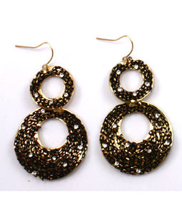 Joann Oval Vintage Hook Earrings