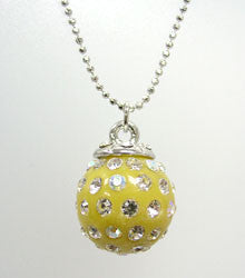 Lucite Crystals Ball Necklace