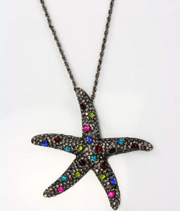 Hematite Starfish Necklace