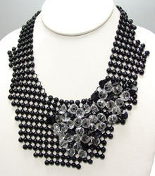 Black Metal Drape Necklace
