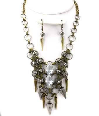 Antique Spiked Necklace Set