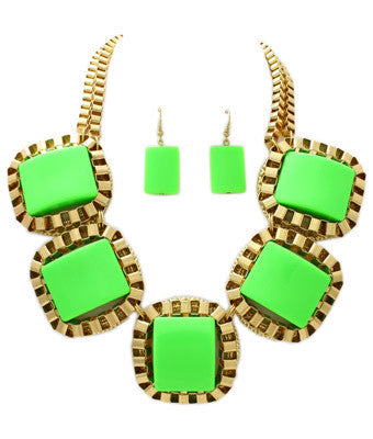 Meadow Square Necklace Set
