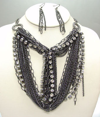 Chain Link Necklace Set
