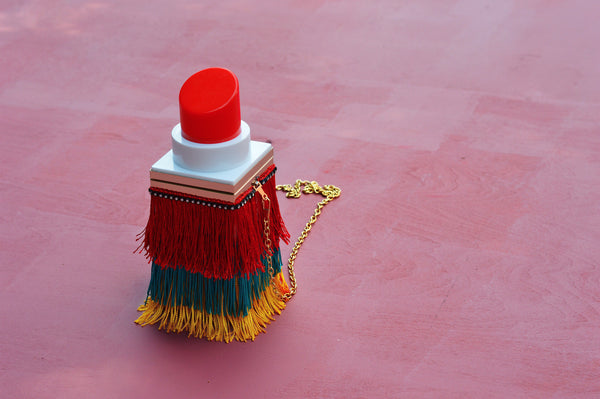 DIY Fringe Lipstick Clutch Bag
