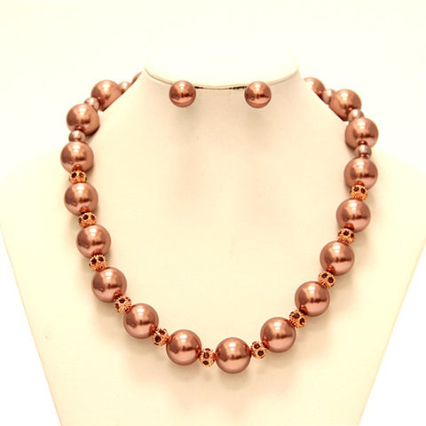 Claire Pearl Necklace Set