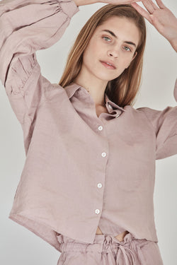 Corbusier Crop Shirt | Rose