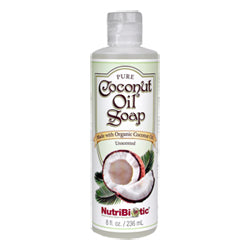 NutriBiotic Pure Coconut Oil Soap, Unscented 8 oz.
