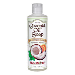 NutriBiotic Pure Coconut Oil Soap, Peppermint  Bergamot 8 oz.