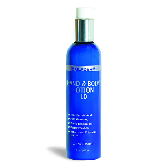 Glyderm Hand and Body Lotion 10% Glycolic Acid Exfoliator