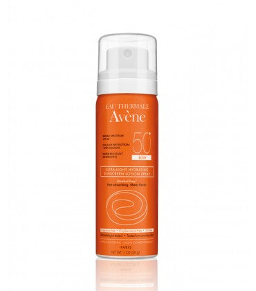 Avene Ultra-Light Hydrating Sunscreen Lotion Spray SPF 50+ Body - 1 oz.