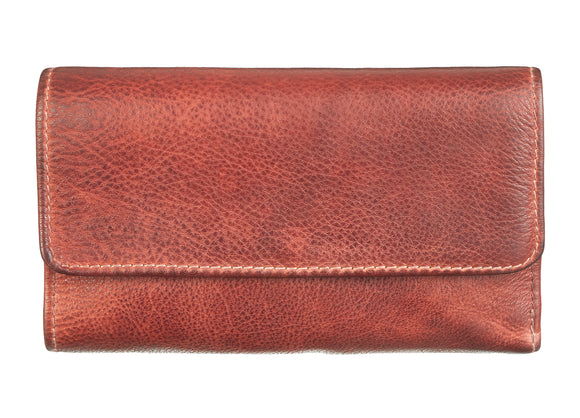 Midi Wallet Burned Cognac von Bull & Hunt