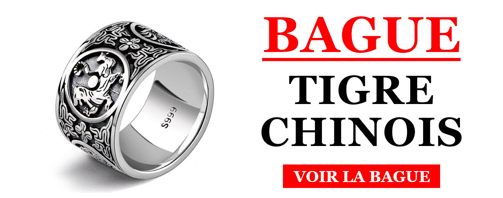 Bague Tigre Chinois