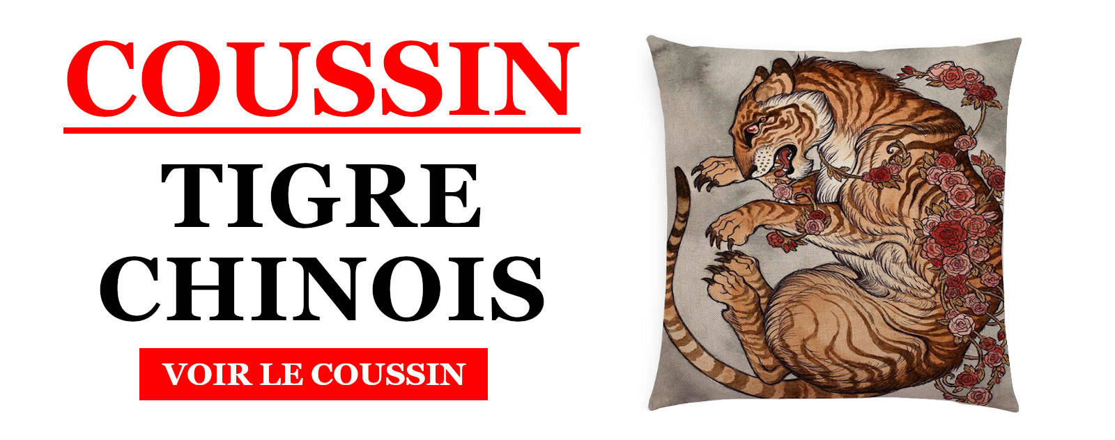 Coussin Tigre Chinois