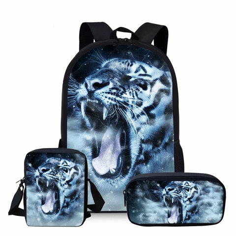 PACK Sac+Sacoche+Trousse Tigre Rassasié