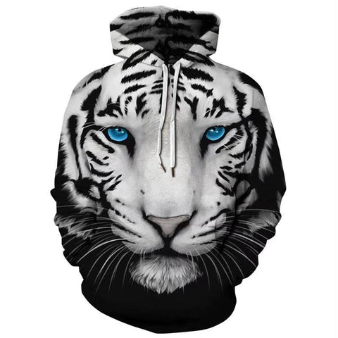 Sweat Tigre Blanc Regard Azur