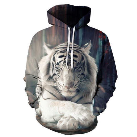 Sweat Tigre Blanc Méditation