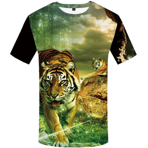 T-shirt Tigre Jungle Verdoyante