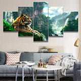 Tableau Tigre Jungle Luxuriante