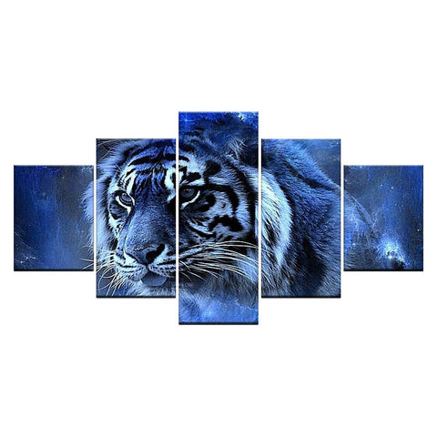 Tableau Tigre Force Glacial