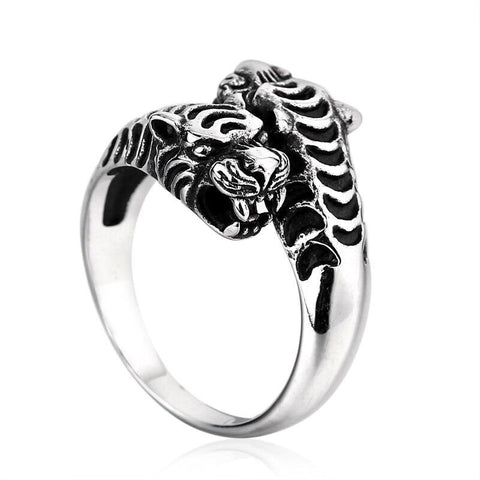 Bague Tigre Double Face
