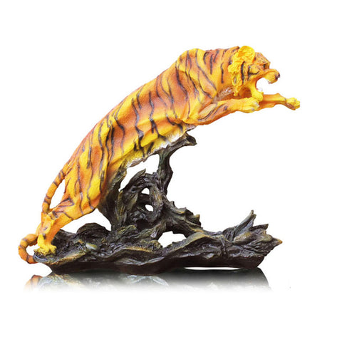 Statue Tigre Attaque Surprise