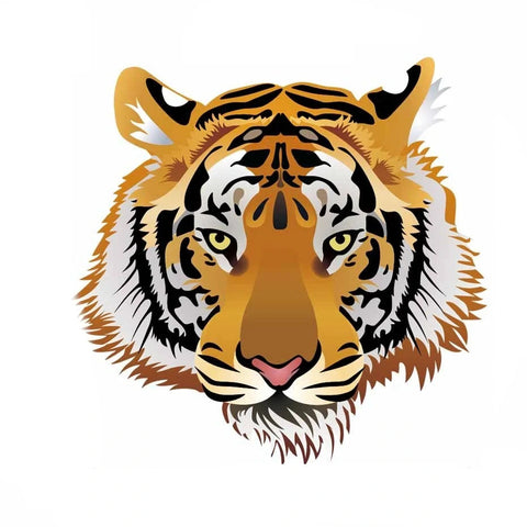 Sticker Tigre Naturel