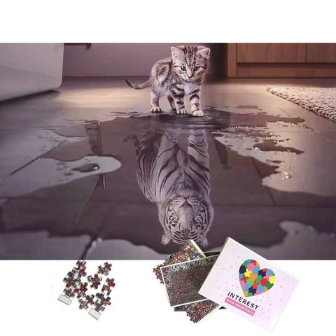 Puzzle Chat Reflet Tigre