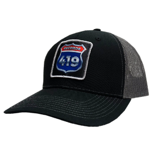 419 Records Black and Charcoal Ballcap