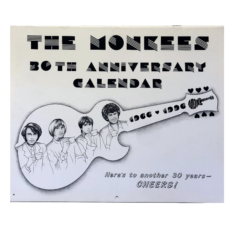 The Monkees 30th Anniversary Calendar