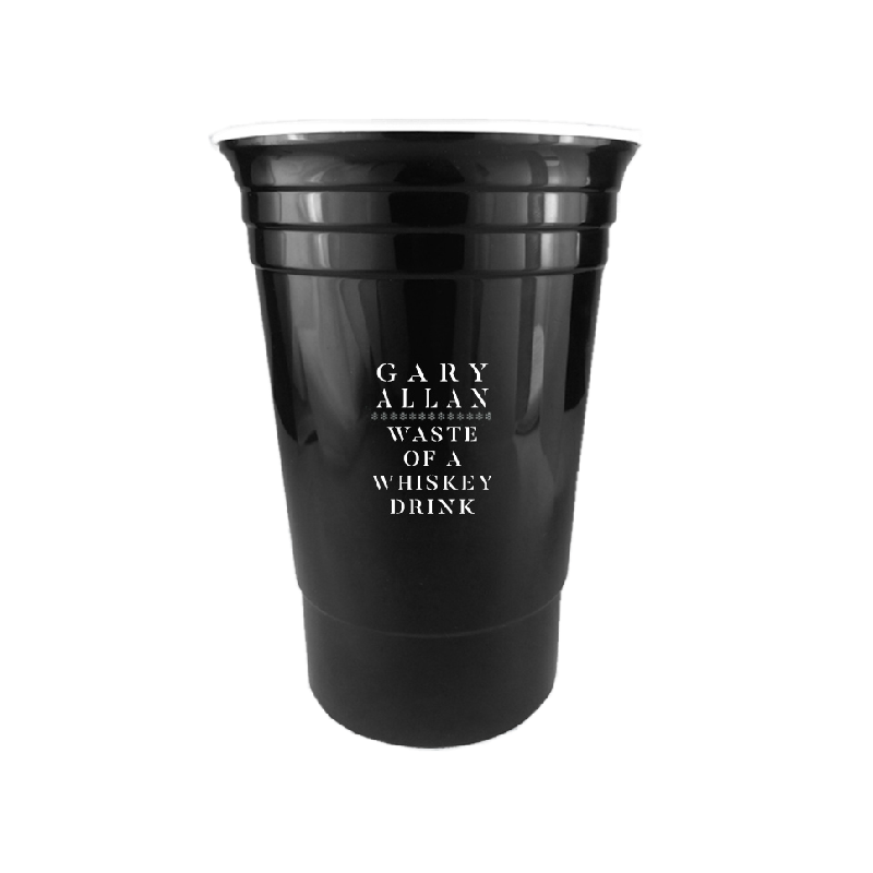 Gary Allan Black Waste of Whiskey Plastic Party Cup