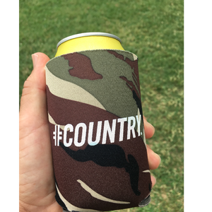 Hashtag Country Camo Can Koozie