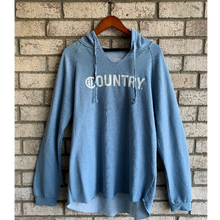Load image into Gallery viewer, Hashtag Country Ladies Surf Country Misty Blue Hoodie