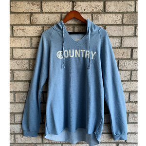 Hashtag Country Ladies Surf Country Misty Blue Hoodie