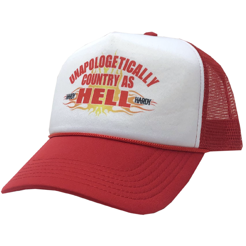 HARDY White and Red Trucker Hat