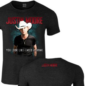 Justin Moore Dark Heather Grey Drink Tee